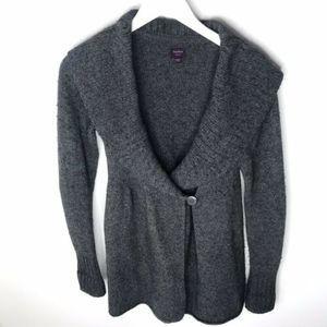 TALULA Aritzia Wool Shawl Collar Cardigan Sweater